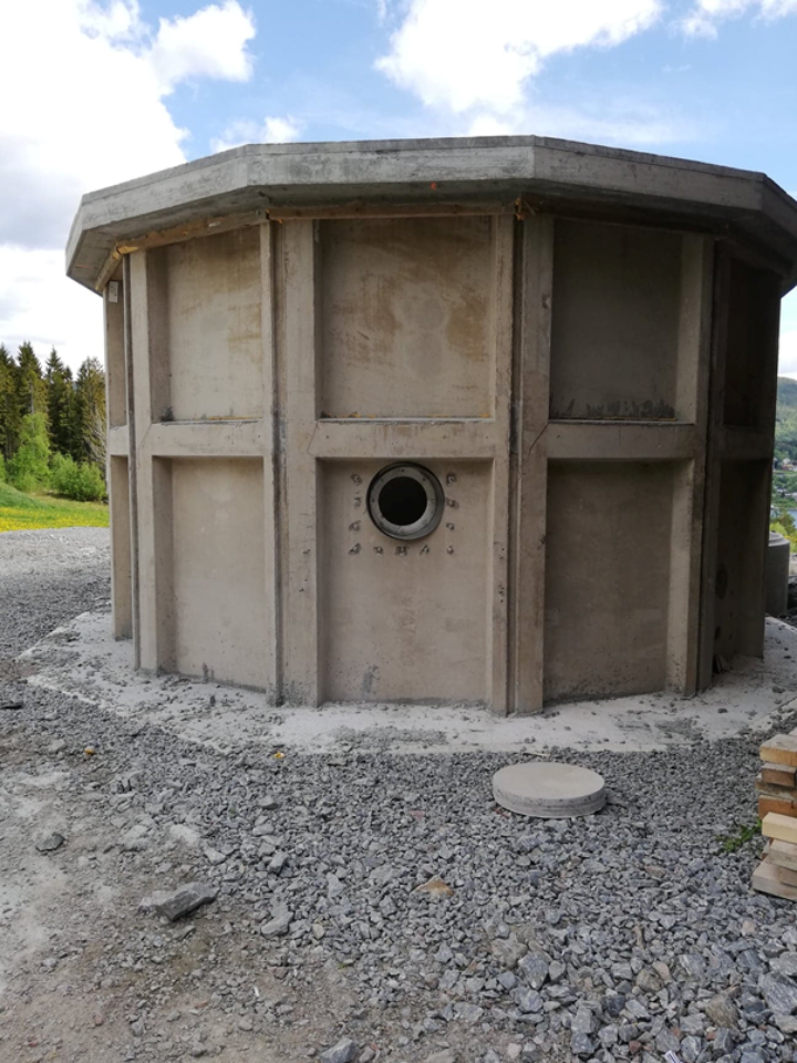 Reactor under construction at Tingvoll (Photo: Lovise Sæter)
