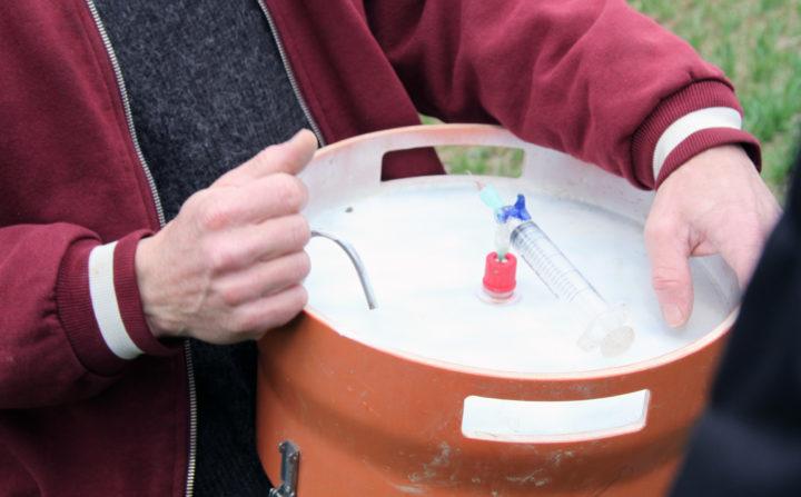 Utstyr til måling av lystgass.  (Foto: Foto: Anita Land)