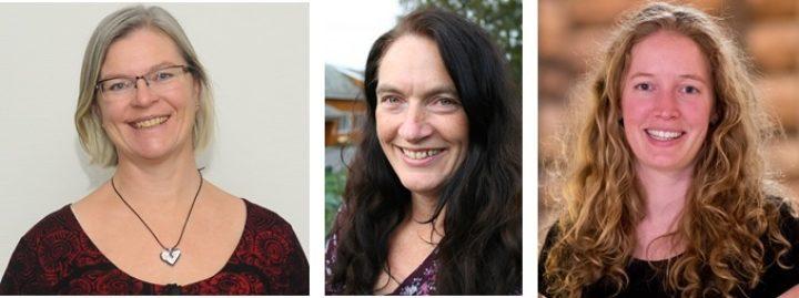 Foredragsholderne fra venstre er Maud Grøtta, Kirsty Mc Kinnon og Marte Guttulsrød. (Foto: Maud: Bjørn Steinar Skarbø, Kirsty: Guro Barstad, Marte: Andreas Winter)