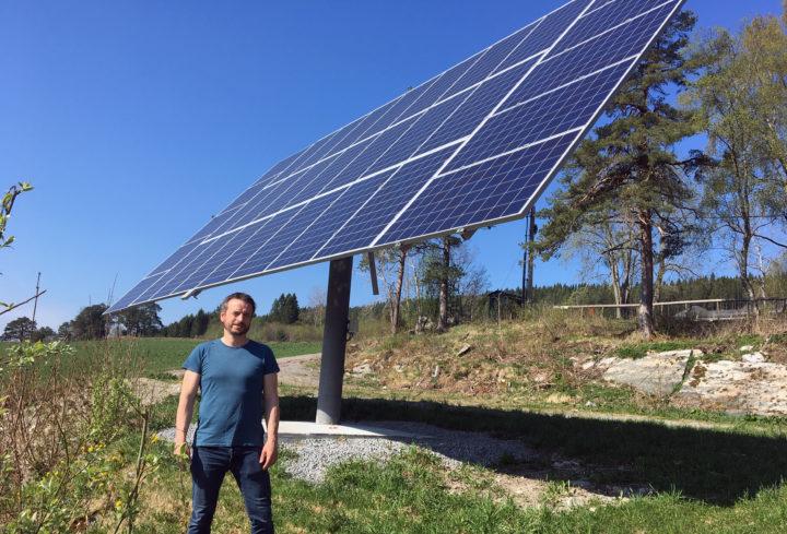 Solcelleanlegg er som regel forbundet med at det er en enkel installasjon, samt at driftskostnadene er lave (Foto: Anita Land)