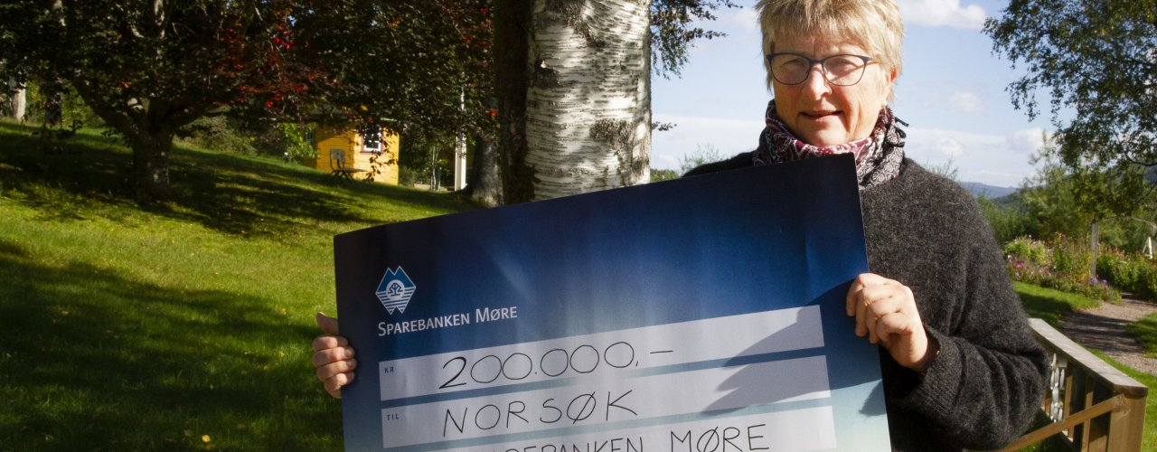 Pengene fra Sparebanken Møre gir NORSØK mulighet til å satse mer på prosjekter om  dyrevelferd (Foto: Anita Land)