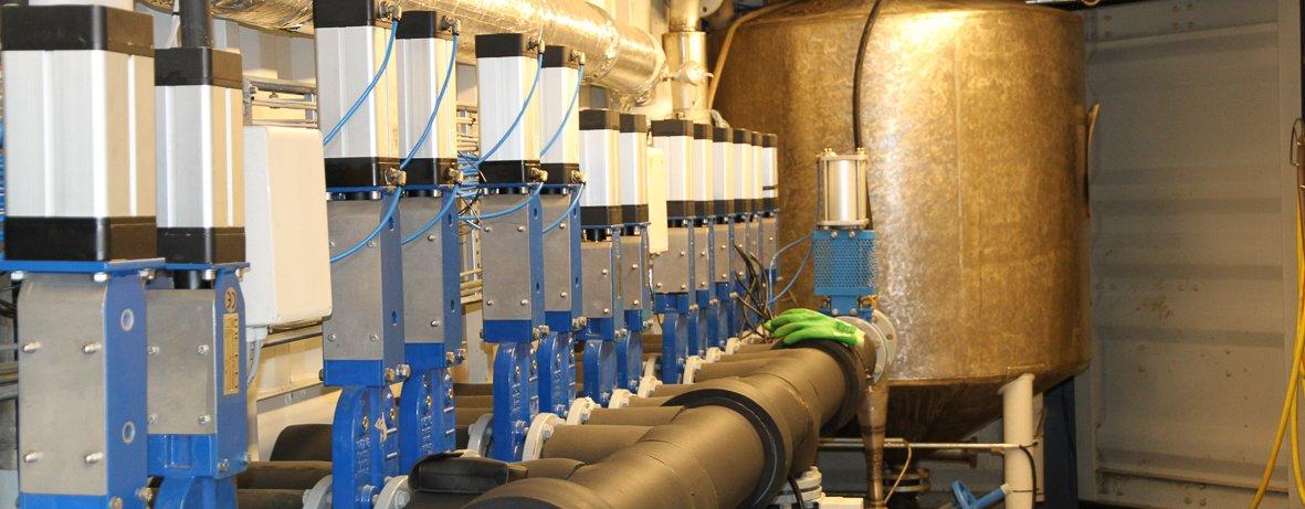 Testanlegg for biogass. (Foto: Anita Land)
