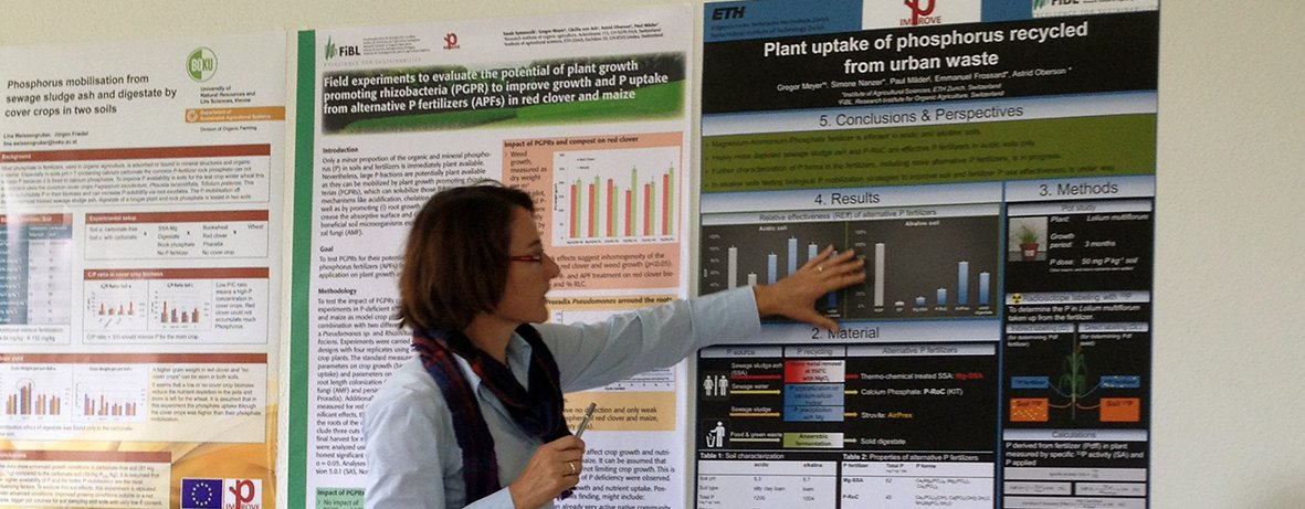 Astrid Oberson, ETH Zürich Switzerland, presenting results of a study on recycled P fertilizers in an IMPROVE-P project meeting. (Photo: Improve-P)
