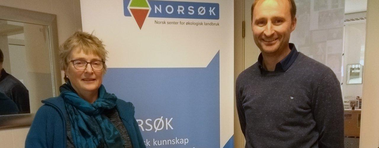 Daglig leder i NORSØK. Turid Strøm og daglig leder i NLR Jakob Simonhjell ser fram til å samarbeide. (Foto: Solveig Johnsen)