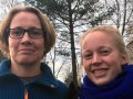 Fra venstre veterinær Berit Marie Blomstrand som skal ta en doktograd. Til høyre og sivilagronom Rosann Johanssen